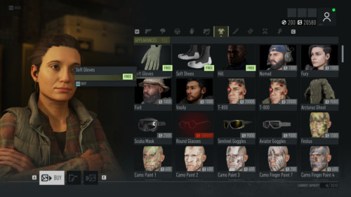 Appearances screenshot of Tom Clancy's Ghost Recon: Breakpoint video game interface.