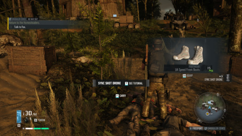 Boots loot screenshot of Tom Clancy's Ghost Recon: Breakpoint video game interface.