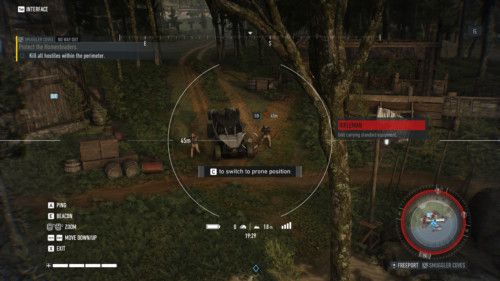 Drone screenshot of Tom Clancy's Ghost Recon: Breakpoint video game interface.