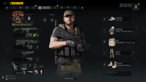 Loadout screenshot of Tom Clancy's Ghost Recon: Breakpoint video game interface.