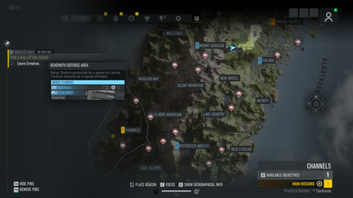 Map screenshot of Tom Clancy's Ghost Recon: Breakpoint video game interface.