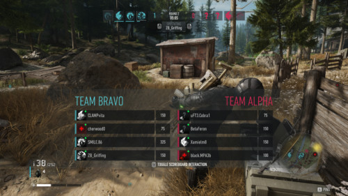 Scoreboard screenshot of Tom Clancy's Ghost Recon: Breakpoint video game interface.