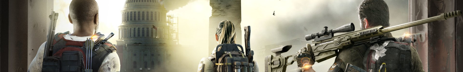 Banner media of Tom Clancy's The Division 2 video game.