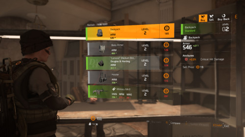 Buy screenshot of Tom Clancy's The Division 2 video game interface.