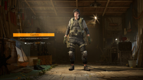 Confirm screenshot of Tom Clancy's The Division 2 video game interface.