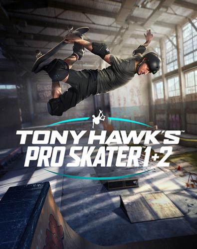 Cover media of Tony Hawk's Pro Skater 1 + 2 video game.