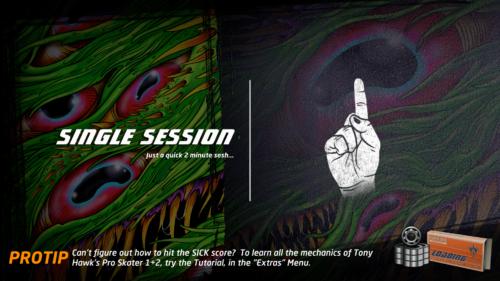 Loading screenshot of Tony Hawk's Pro Skater 1 + 2 video game interface.