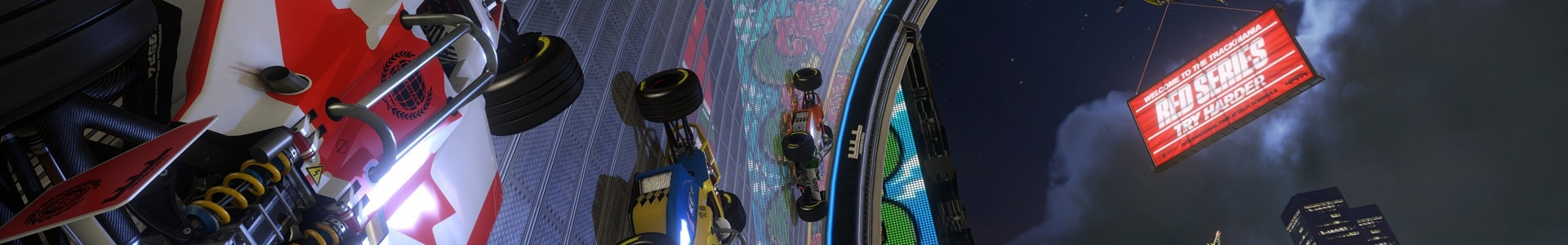 Banner media of Trackmania Turbo video game.