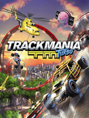 Cover media of Trackmania Turbo video game.