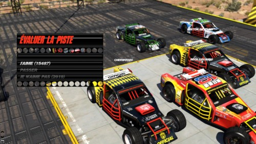 Evaluate the track screenshot of Trackmania Turbo video game interface.