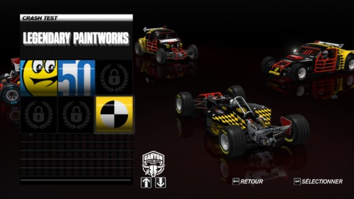Legendary paintworks screenshot of Trackmania Turbo video game interface.