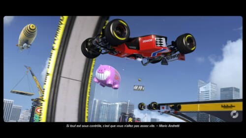 Loading screenshot of Trackmania Turbo video game interface.
