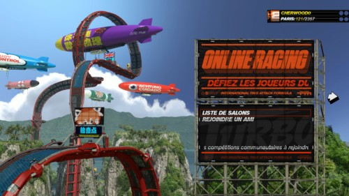 Online racing screenshot of Trackmania Turbo video game interface.