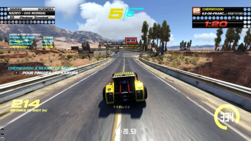 Race screenshot of Trackmania Turbo video game interface.