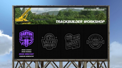 Trackbuilder screenshot of Trackmania Turbo video game interface.