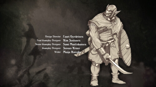 Credits screenshot of Trine 2 video game interface.