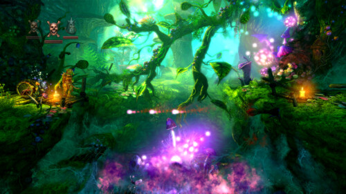 Dead character screenshot of Trine 2 video game interface.