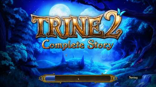 Loading screen screenshot of Trine 2 video game interface.