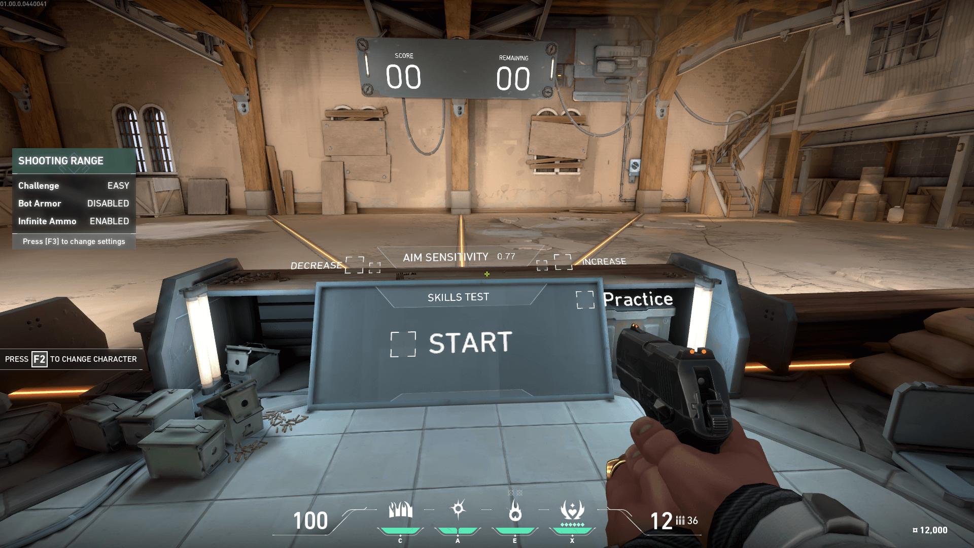 Aim sensitivity screenshot of Valorant video game interface.