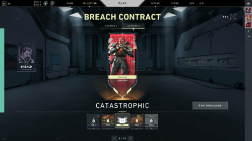 Breach contract screenshot of Valorant video game interface.