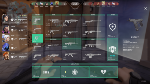 Buy screenshot of Valorant video game interface.