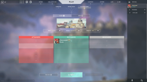 Custom game screenshot of Valorant video game interface.