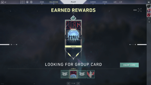 Earned rewards screenshot of Valorant video game interface.
