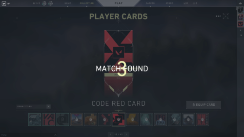 Match found screenshot of Valorant video game interface.