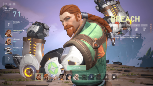 Select character screenshot of Valorant video game interface.
