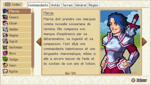 Codex screenshot of Wargroove video game interface.
