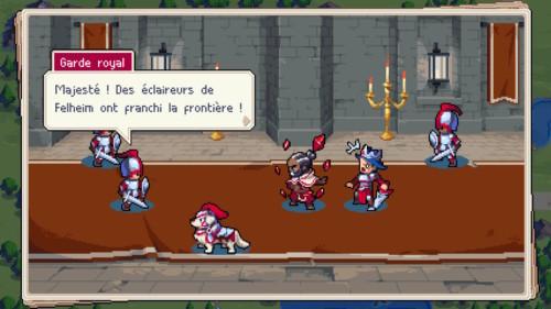 Dialogue screenshot of Wargroove video game interface.
