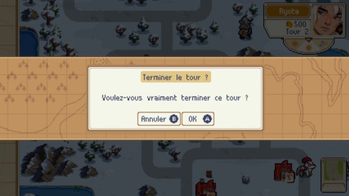 End round screenshot of Wargroove video game interface.