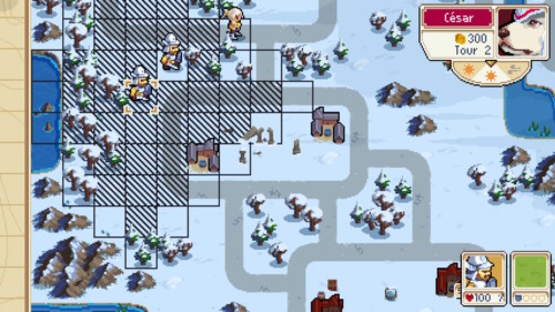Enemy move screenshot of Wargroove video game interface.