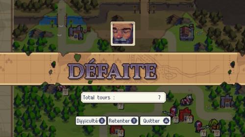 Loose screenshot of Wargroove video game interface.