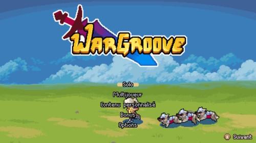 Main menu screenshot of Wargroove video game interface.