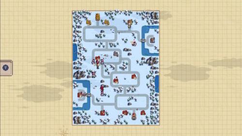 Map screenshot of Wargroove video game interface.