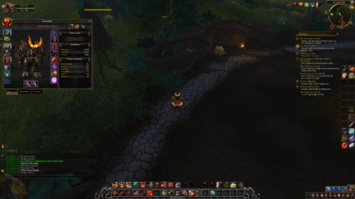 Character screenshot of World of Warcraft video game interface.