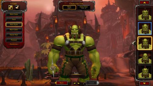 Customize screenshot of World of Warcraft video game interface.