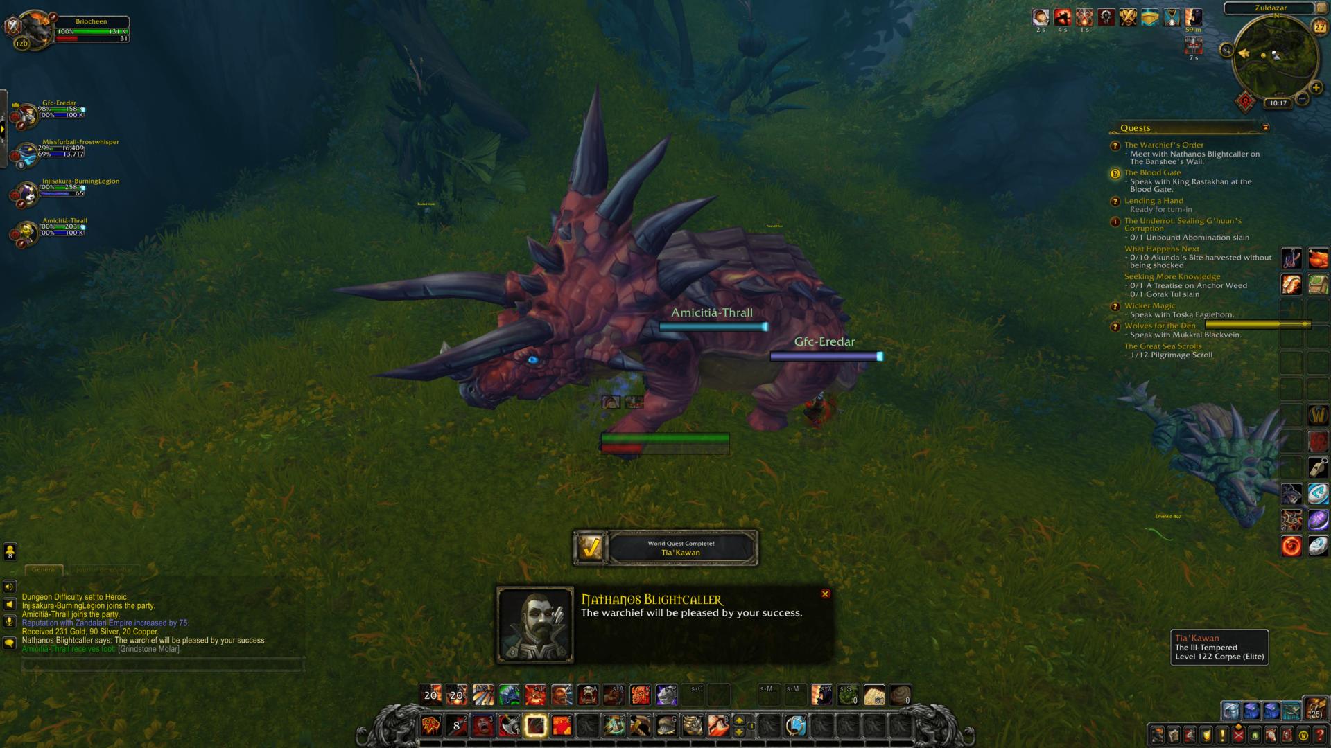 Dialogue screenshot of World of Warcraft video game interface.