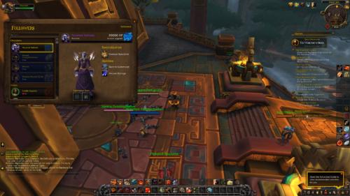 Followers screenshot of World of Warcraft video game interface.