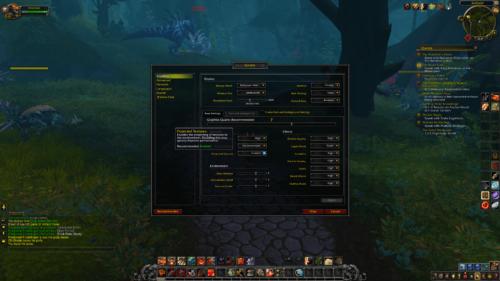 Graphics screenshot of World of Warcraft video game interface.