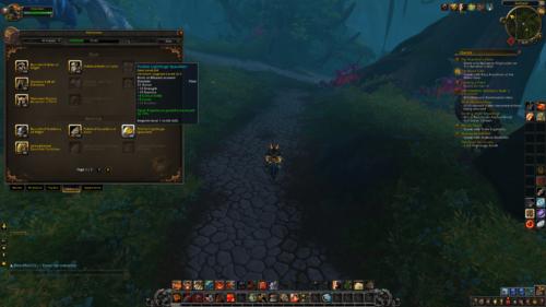 Heirlooms screenshot of World of Warcraft video game interface.