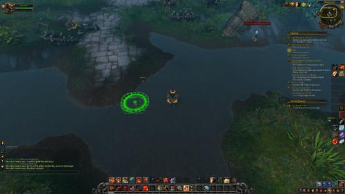 Jump area screenshot of World of Warcraft video game interface.