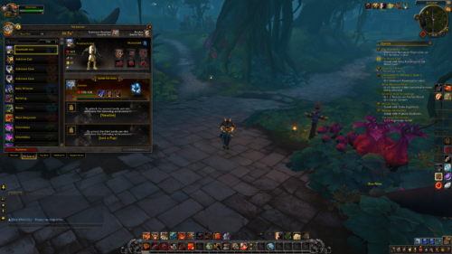 Pet journal screenshot of World of Warcraft video game interface.