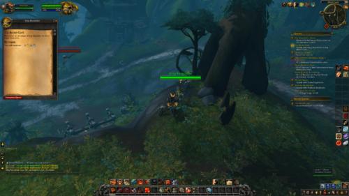 Quest screenshot of World of Warcraft video game interface.