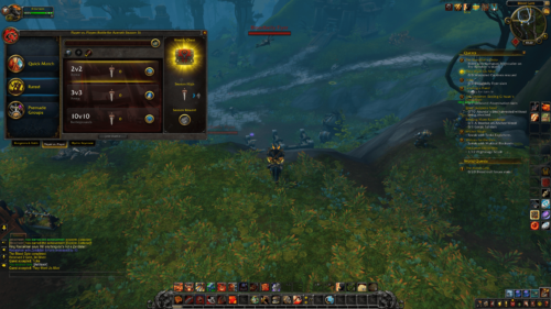Rated match screenshot of World of Warcraft video game interface.