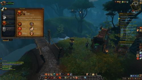 Specialization screenshot of World of Warcraft video game interface.