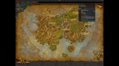 Zuldazar screenshot of World of Warcraft video game interface.