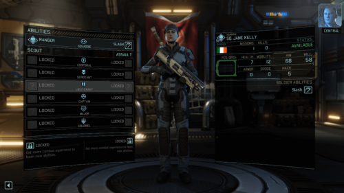Abilities screenshot of XCOM 2 video game interface.