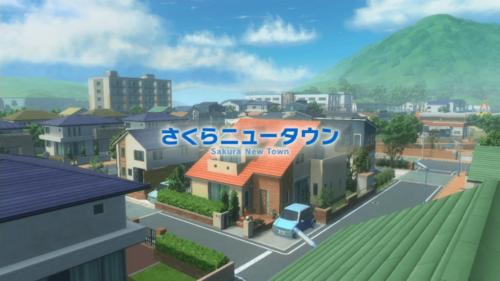 Sakura New Town screenshot of Yo-kai Watch 4 video game interface.